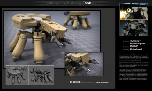 Models - Sci-fi Tank